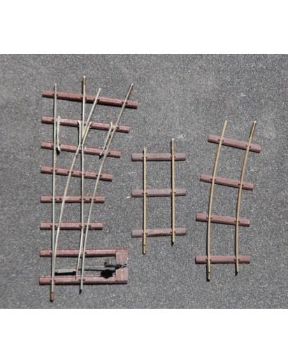 Feldbahnweiche, Dachschwellen, links,Spur 1f