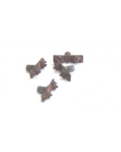 Schienenstühlchen für Betonschwellen Metall 1:32, 50 Stück