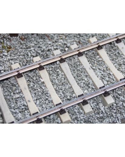 Code 250 Gleisbausatz, 64 mm Spurweite, Länge 1,2 m, Betonschwellen