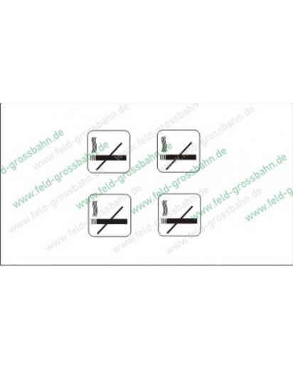 Nichtraucher Logo, 4 Stück