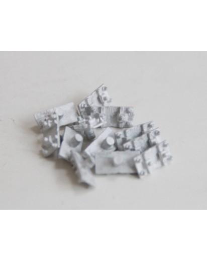 Schienenstühlchen Metall für Code 250 Gleis, 50 Stück