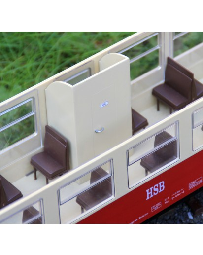 3er-Set Toillettenabteil für Trainline HSB Wagen, Bausatz