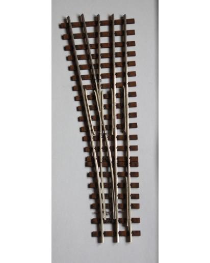 Spur 1e Abzweig Dreischienengleis, 10°, 815 mm Radius