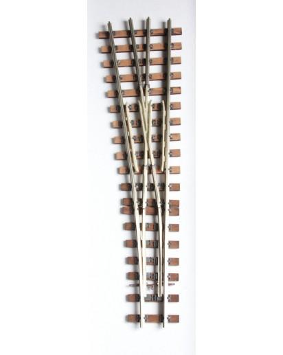 Spur 1e Weiche Bausatz, 10°, 815 mm Radius