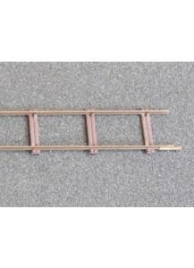 Gleisbausatz 1m Feldbahngleis mit Rillenschwellen,Spur 1f