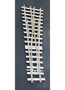 Spur 1e Weiche Bausatz, 7,5°, 2200 mm Radius