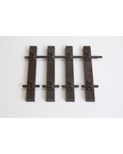 Code 250 Schwellennbett 45 mm Spur, 25 Stück