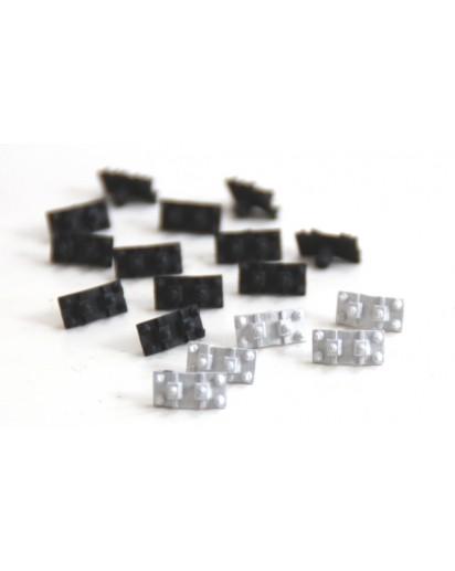 S33 Schienenstühlchen Metall 1:32, 100 Stück