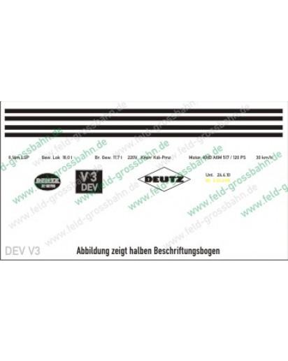Decal Beschriftung Trainline(R) Diesellok V3 DEV