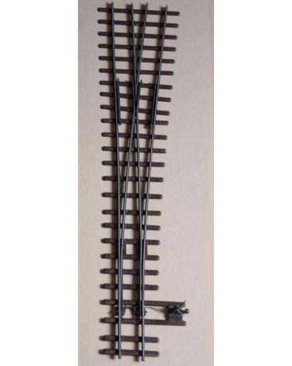 Spur 1e Finescale Stahlschwellenweiche EW Va-65-1:7