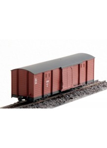 4-achsiger geschlossener Güterwagen mit Weyer Drehgestellen - Spur 1e
