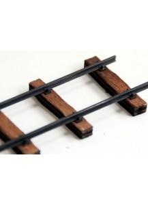 Gleisbausatz 1m Feldbahngleis mit Holzschwellen,Spur 2f