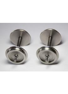 Edelstahl Radsätze Durchmesser 30,5 mm, 2 Stück