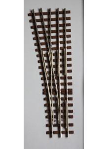 Spur 1e Abzweig Dreischienengleis, 7,5°, 1500 mm Radius